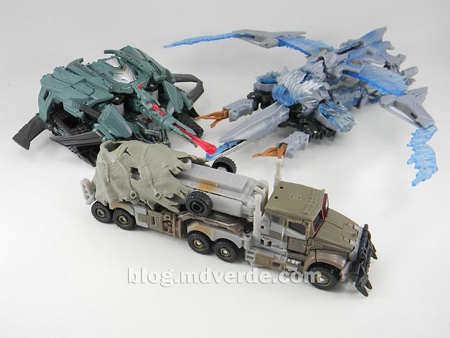 Transformers Megatron DotM Voyager - modo alterno vs 2007 vs RotF