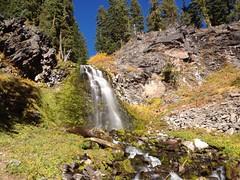 Plaikni Falls Trail (James Wellington) Tags: autumn fall water oregon creek waterfall nationalpark hiking falls craterlake attraction iphone iphone4s