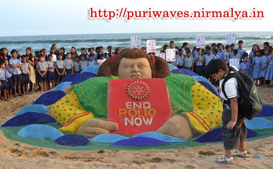 WORLD POLIO DAY – Sand Art by Sudarsan Pattnaik