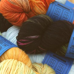DOCTOR WHO inspired yarn and fiber (click for prices)