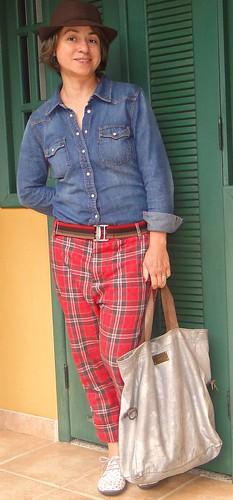 Jeans e xadrez