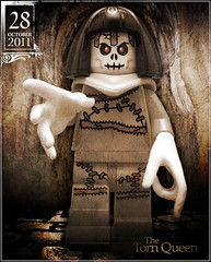 October 28 - The Torn Queen (Morgan190) Tags: halloween skeleton scary october advent calendar lego god zombie parts queen creepy fallen egyptian torn priest reach minifig minifigs mummy custom stitched pharoah priestess deity m19 minifigure grasp 2011 morgan19 morgan190 slenderman