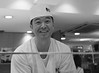 (It's Stefan) Tags: blackandwhite bw cooking monochrome smile japan sushi cuisine restaurant tokyo cook culture business master chef stuff economy ©stefanhöchst