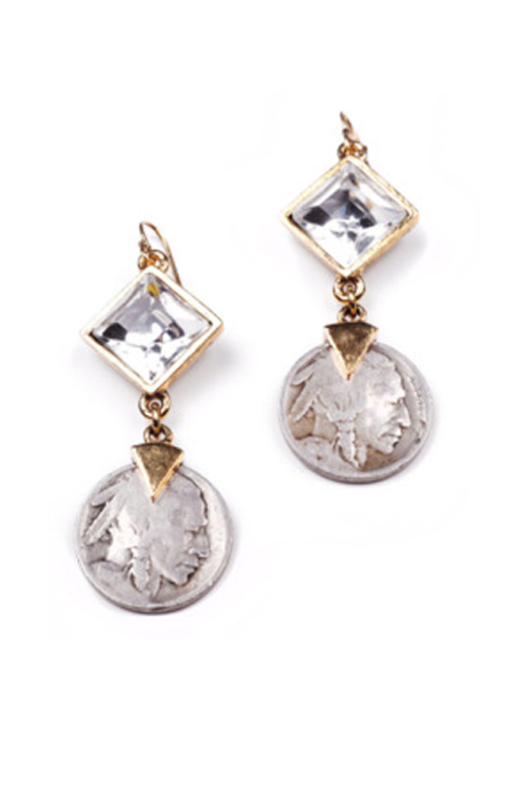 Buffalo Nickel Earring