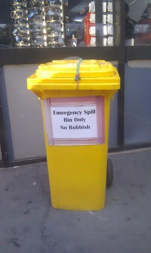 Emergency Spill Bin