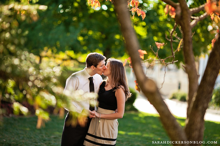 University of Kansas Lawrence engagement session