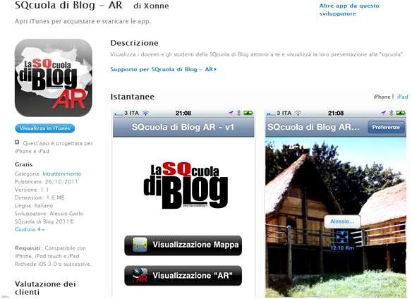 App SQcuola di Blog