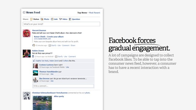Facebook forces gradual engagement