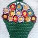 Bolsa em crochê com flores - detalhe