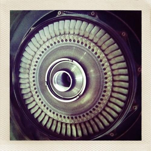 Inside a @PWCanada1 PT6A-27 turbine. #avgeeks
