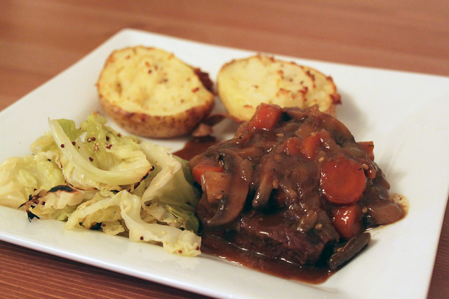 Braised Beef with Caramelised Onions
