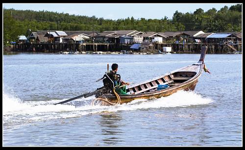 Longtail boat at Samchong, Phang Nga