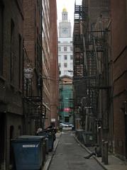 Public Alley 439, Boston (Mr.  Mark) Tags: city tower clock girl boston photo smoking backbay publicalley markboucher