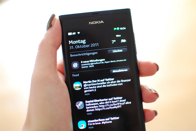 Nokia N9 Screen