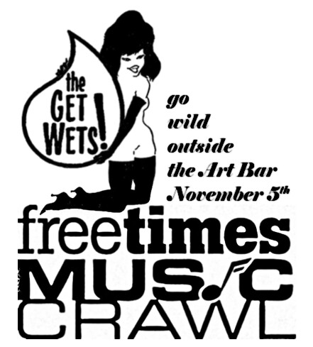 the Get Wets go wild outside the Art Bar November 5th for the Free Times Music Crawl