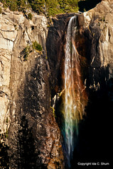 Roy G. Biv and Bridalveil Fall Lived Happily Ever After (idashum) Tags: california travel sun sunlight water colors rock landscape photography waterfall nationalpark rainbow nikon rocks prism yosemite yosemitenationalpark geology bridalveil ida shum yosemitevalley roygbiv playingwithlight rockformation bridalveilfall d300 pohono spiritofthepuffingwind ahwahneecheetribe bridalveilfallrainbow idashum idacshum