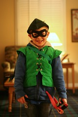Caleb as Green Arrow