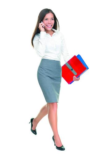 [フリー画像素材] 人物, 女性, ブラウス, ビジネスシーン, 携帯電話 ID:201111061800