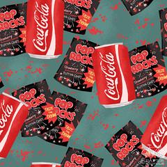 2011_11_02_Myth_LindsayNohl_sm (LindsayJuneNohl) Tags: food art illustration artwork pattern candy patterns coke surfacedesign pop sweets junkfood soda myth myths poprocks urbanlegend dailypattern paperbicycle lindsaynohl