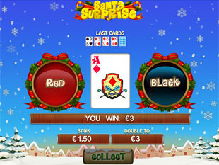 free Santa Surprise slot gamble feature