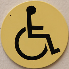 Wheelchair access (Leo Reynolds) Tags: sign canon eos iso800 wheelchair 7d squaredcircle f56 125mm 0006sec signrestroom signinformation hpexif sqset070 xleol30x xxx2011xxx