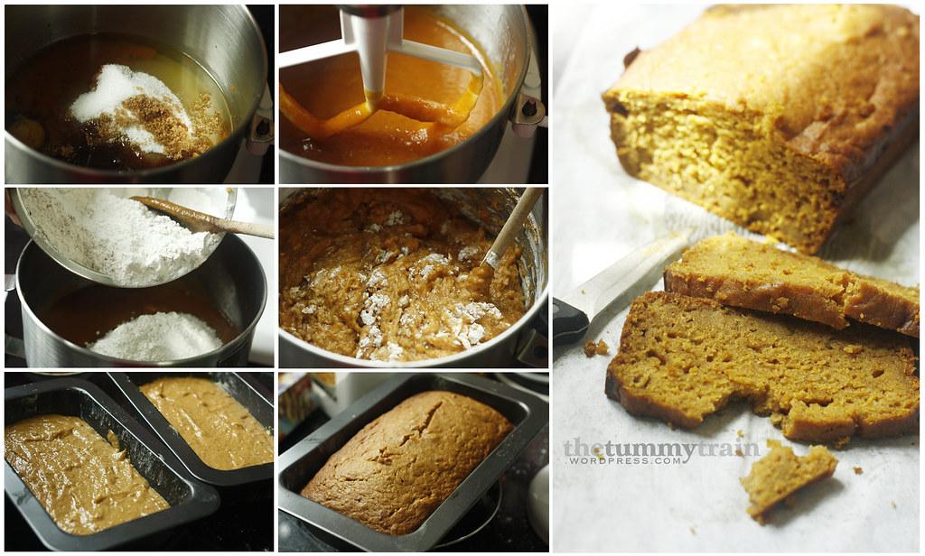 Pumpkin Bread in the making