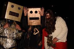 Party Rock! (agent j loves nyc) Tags: nyc newyorkcity costumes robot costume parade halloweenparade greenwichvillage 2011 villagehalloweenparade shufflebot lmfaorobot shufflingrobot robotpete