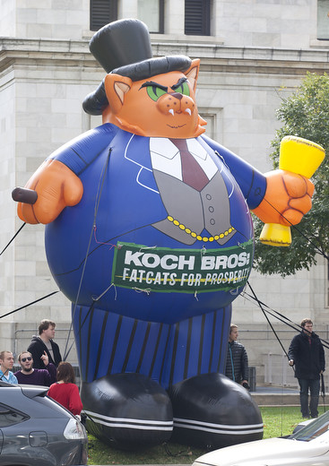 Koch brothers are fat cats for prosperity