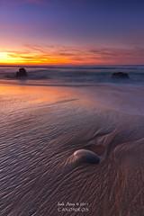 Askada Beach II (saki_axat) Tags: autumn light sunset sea seascape beach sand rocks waves coastal