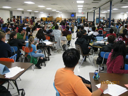 11/5/11: Half the group gathered for the TJHS Math Open.