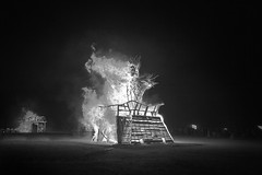 Mama Nola (Bill Hornstein) Tags: night fire desert expression neworleans burningman blackrockcity effigy voodoodoll momanola