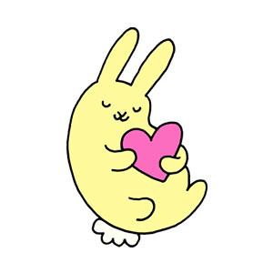 Bunny Heart Icon Design for Pixelgirl