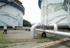 中油高雄廠A、B貯槽。照片提供:環 保署