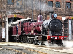 steam and shed (sth475) Tags: old railroad building heritage classic train shed sydney large engine atp railway loco australia steam special maintenance nsw infrastructure locomotive preserved redfern rtm 3265 australiantechnologypark eveleigh beyerpeacock thelarge nswgr nswr 3801ltd largeerectingshed c32class