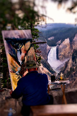 "the painter (Scott Stringham ""Rustling Leaf Design"") Tags: canon nationalpark yellowstonenationalpark rebelxt yellowstonepark triptomontana"