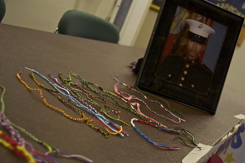 Support Our Heroes sold bracelets in Campus Center to raise money for the troops.