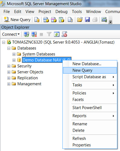 Database Size - New Query