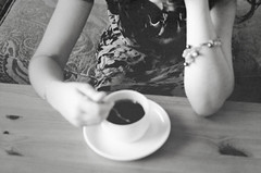 (Ebtesam.) Tags: white black coffee girl 50mm grey saudi arabia jeddah ابتسام ebtesam nikond7000