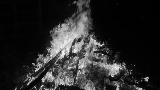 Fire B&W