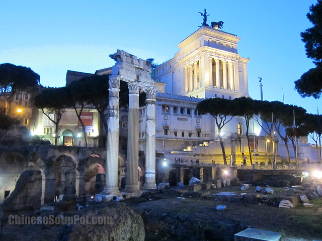 [photo-roman capitoline hill overlooking forum]