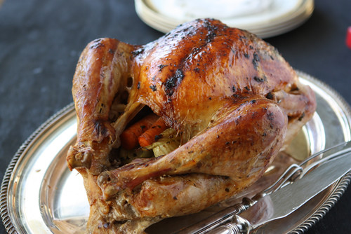 Brined Roast Turkey With Sage Butter Rub Recipe — Dishmaps