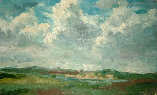 Oil sketch. Istobensk village