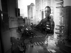 Downtown autoportrait (sparth) Tags: seattle street november portrait bw blackwhite downtown sam autoportrait noiretblanc perspective iv ricoh seattleartmuseum downtownseattle 2011 grd