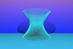 Hyperboloid (rainerwonisch) Tags: lines line mathematics straight povray hyperboloid