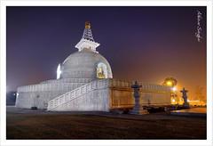 Shanti Stupa III (Abhinav Singhai) Tags: travel blue sky india tourism nikon god buddha stupa delhi tammy tourist traveller lonelyplanet bluehour nikkor tamron dri uwa 10mm indiatourism incredibleindia shantistupa 1024mm tamron1024mm