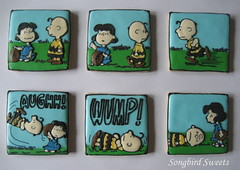 Charlie Brown & Lucy...Good Grief! (Songbird Sweets) Tags: fall lucy football peanuts charliebrown sugarcookies songbirdsweets