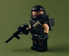 Red vs. Blue inspired ODST (Nick Brick) Tags: lego teeth halo rooster custom minifigure odst