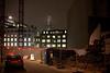 Treveris Street (Gary Kinsman) Tags: mist london tower architecture skyscraper construction lowlight alley availablelight demolition backstreet highrise f2 shard southwark se1 highiso londonist canon50mmf14 2011 iso2000 theshard canoneos5dmarkii shardlondonbridge canon5dmkii treverisstreet