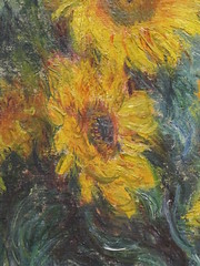 Bouquet of Sunflowers (priscillajp) Tags: new york nyc trip winter usa holiday ny museum america united canvas monet eua sunflowers oil claude bouquet states met inverno metropolitan metropolitanmuseum 1881 2011