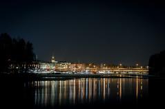 37/52-[This is my hometown] (mcqal) Tags: longexposure bridge winter water night reflections landscape nikon älv 2012 skellefteå d300 longshutterspeed 52weeks 52weeksproject